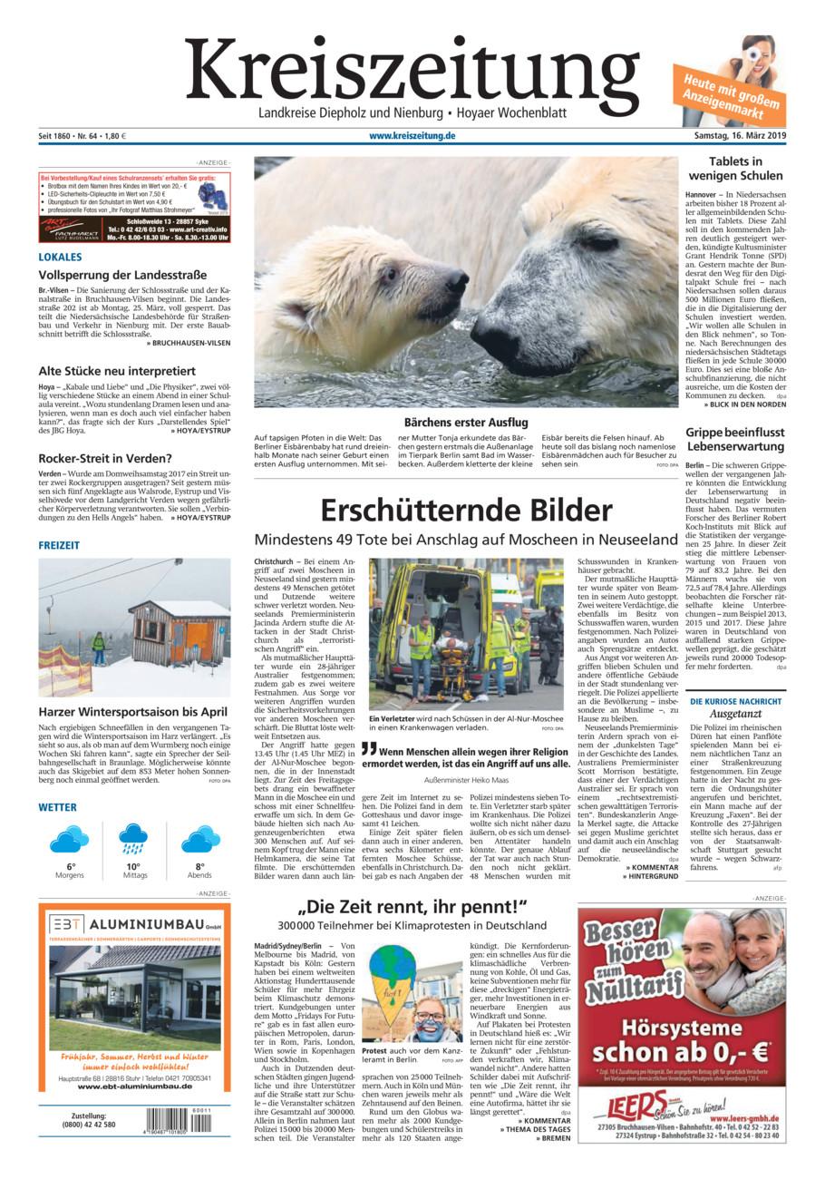 Kreiszeitung Bruchh.-Vilsen/Hoya vom Samstag, 16.03.2019