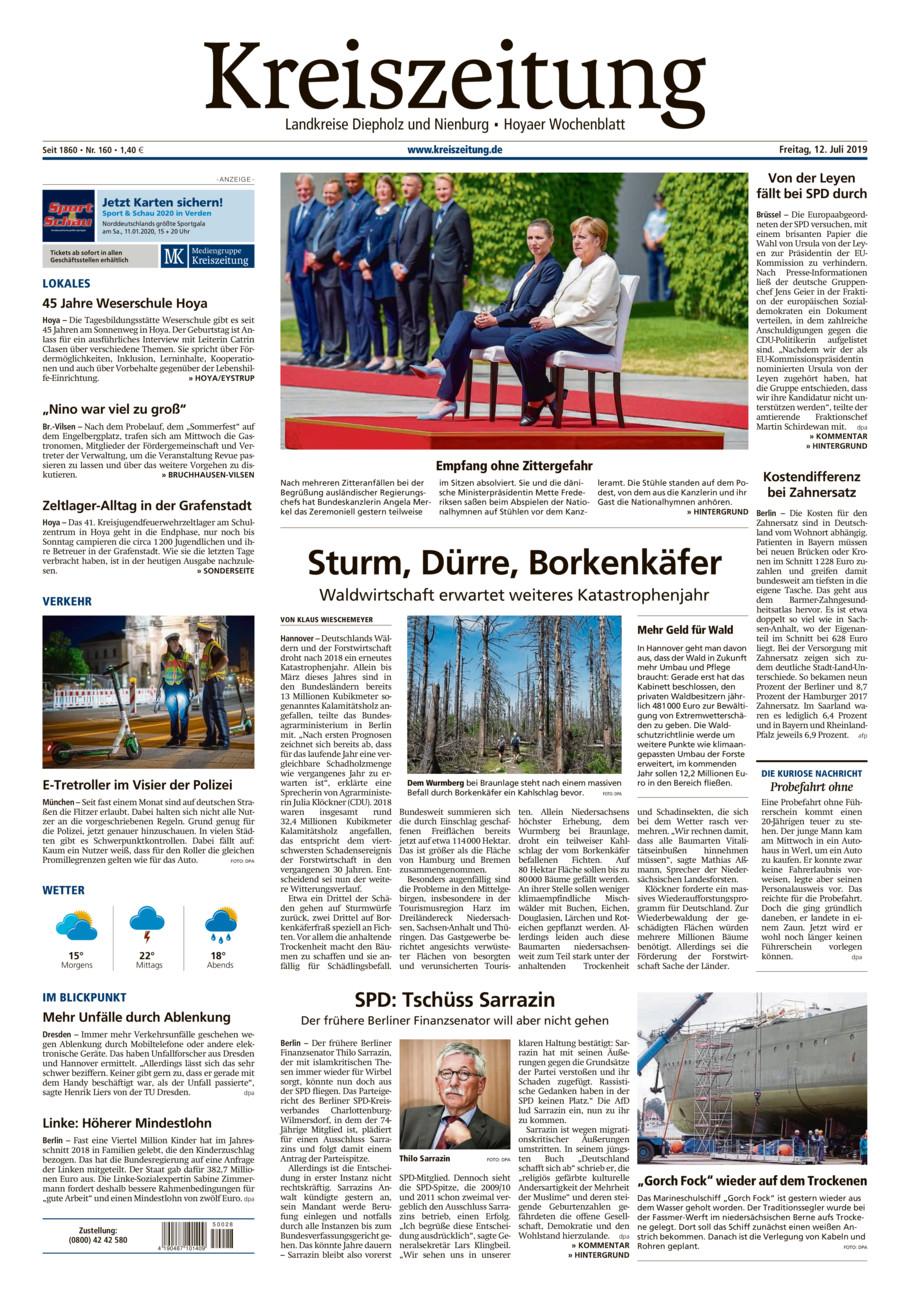 Kreiszeitung Bruchh.-Vilsen/Hoya vom Freitag, 12.07.2019