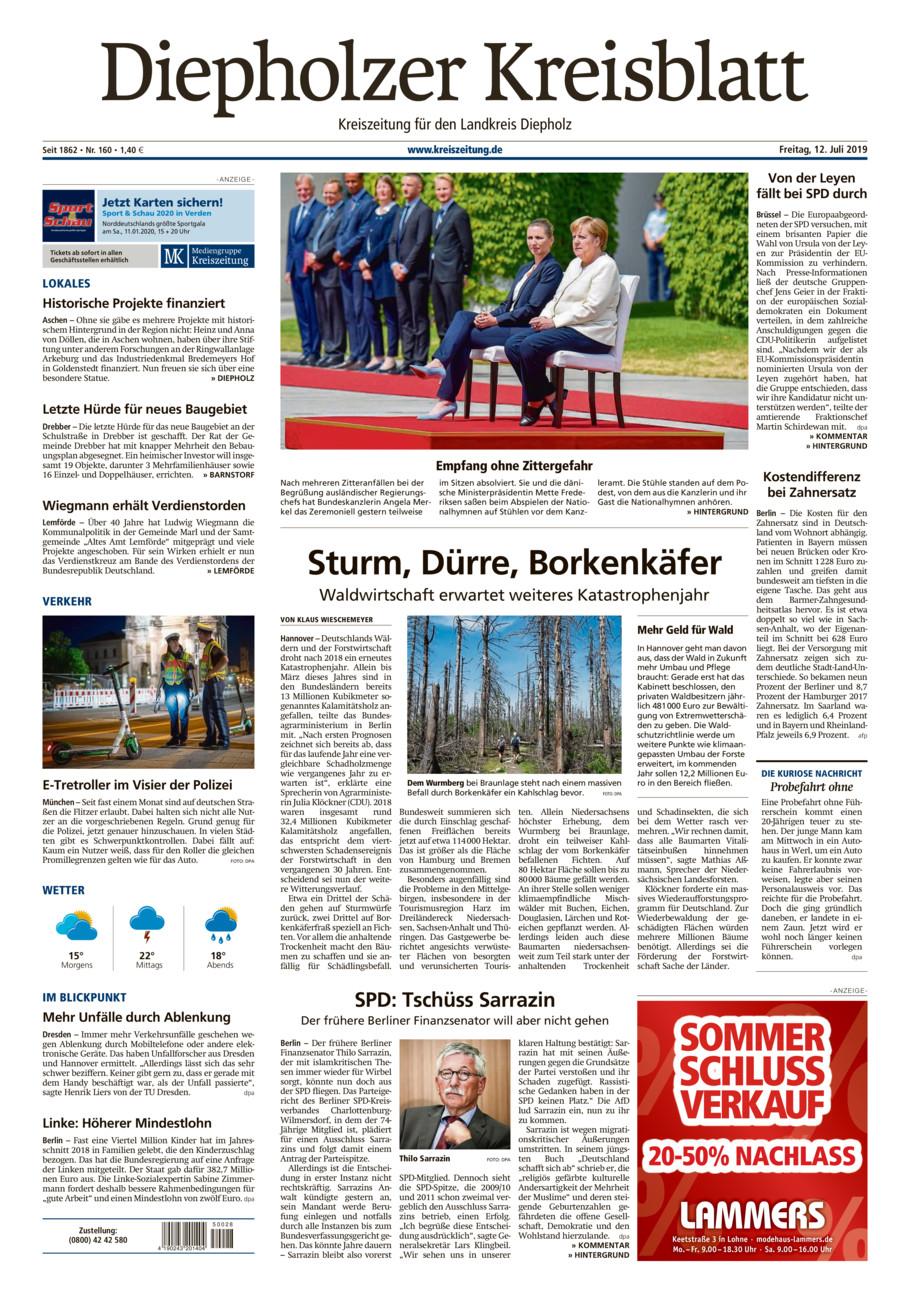 Diepholzer Kreisblatt vom Freitag, 12.07.2019