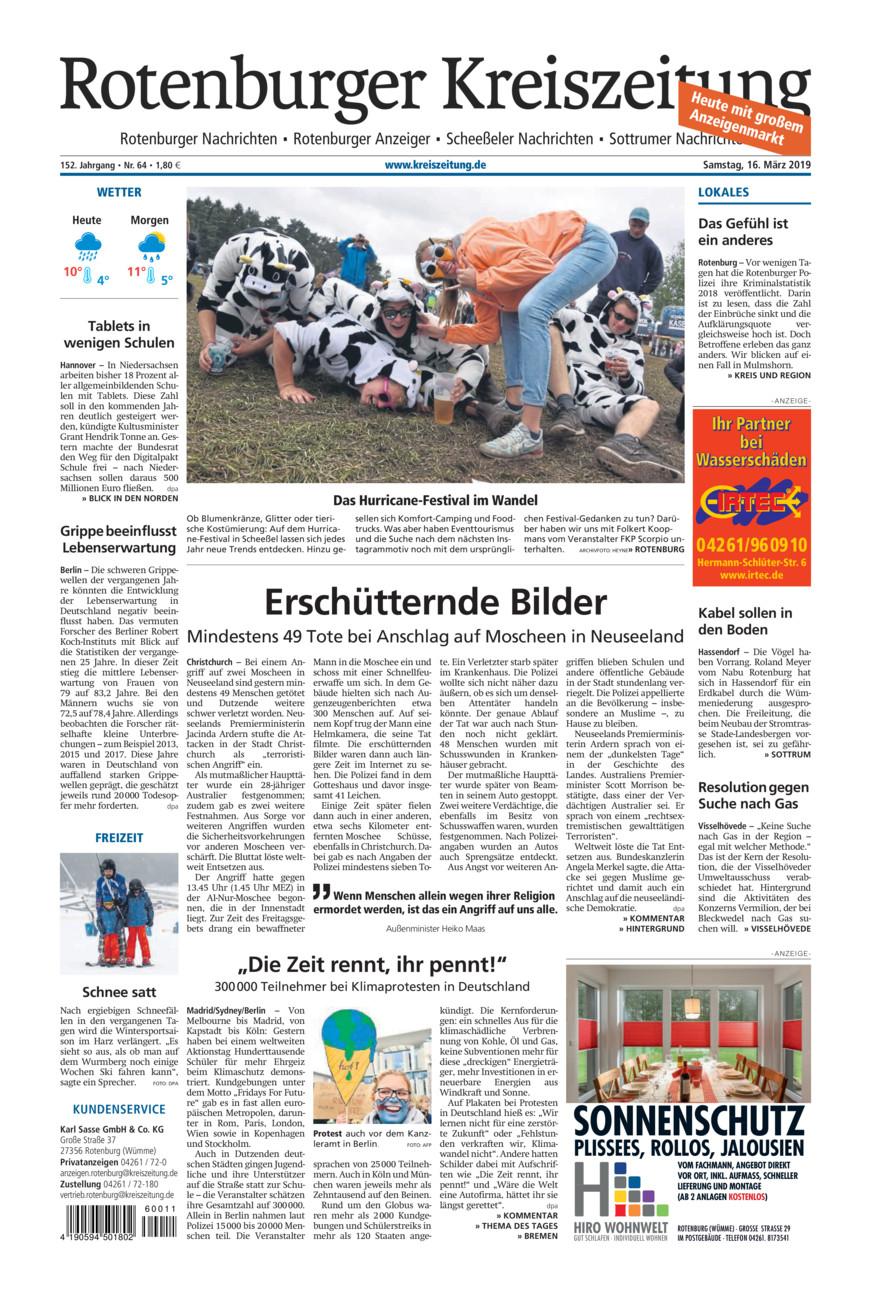 Rotenburger Kreiszeitung/Visselhöveder Nachrichten vom Samstag, 16.03.2019