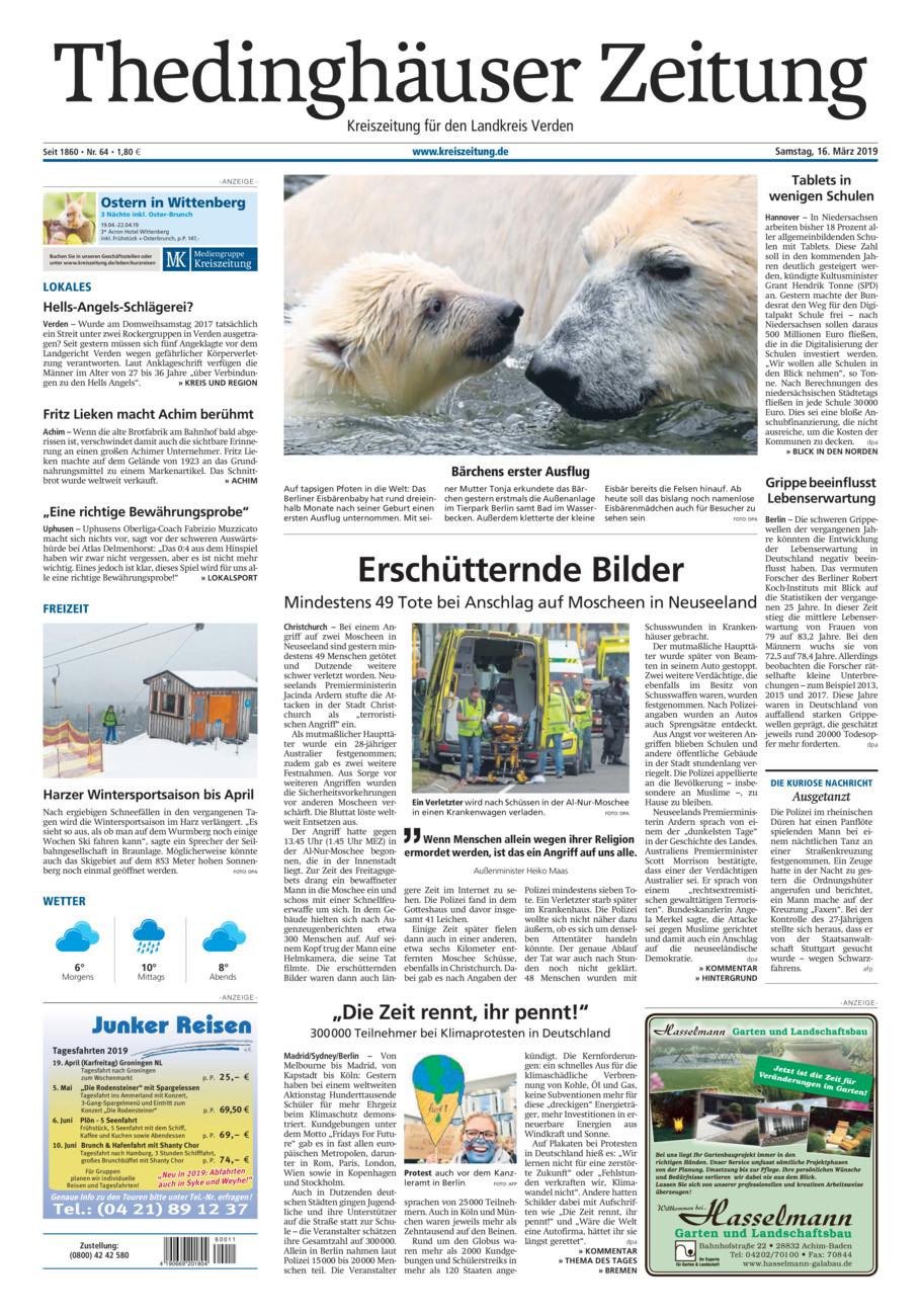 Thedinghäuser Zeitung vom Samstag, 16.03.2019