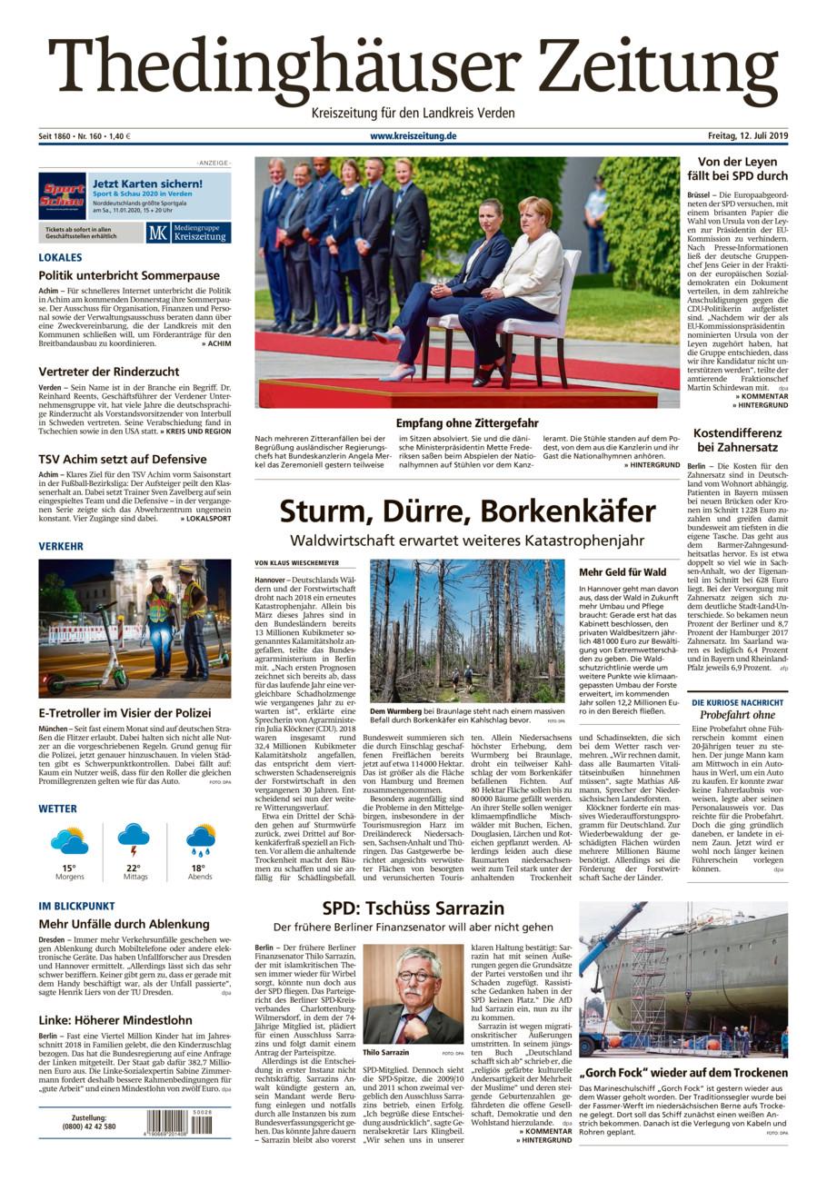 Thedinghäuser Zeitung vom Freitag, 12.07.2019