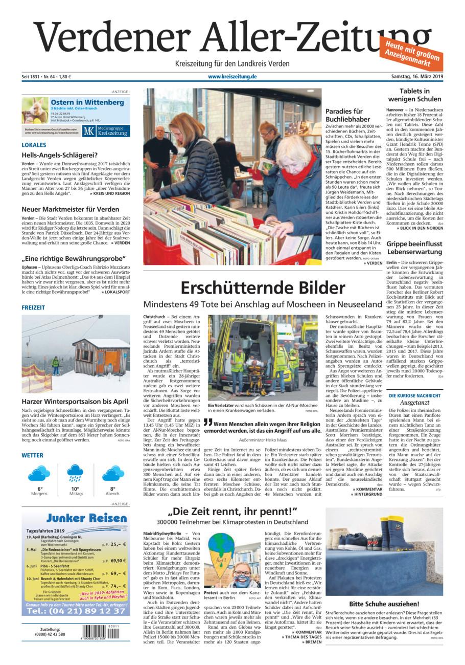 Verdener Aller-Zeitung vom Samstag, 16.03.2019