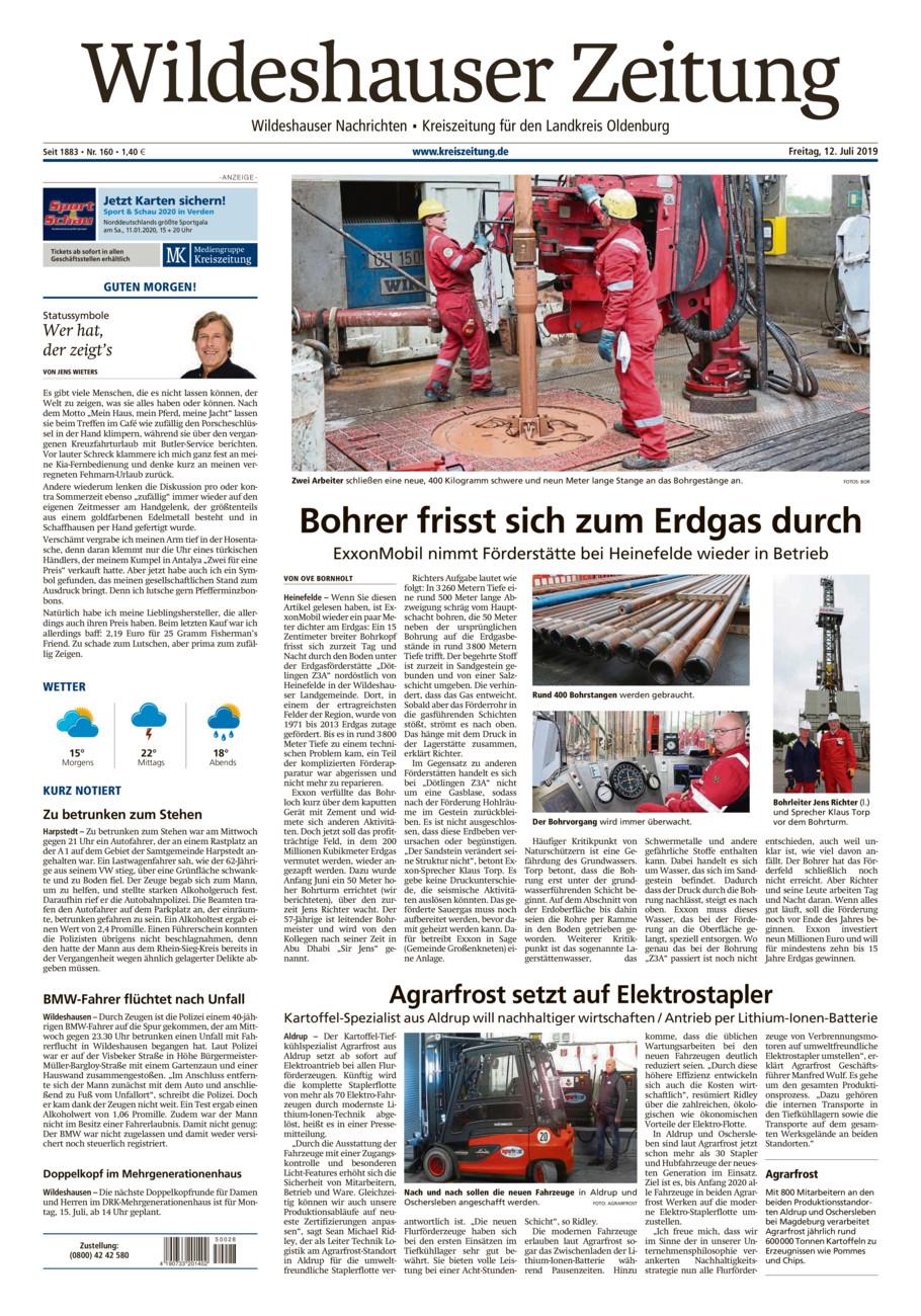 Wildeshauser Zeitung vom Freitag, 12.07.2019