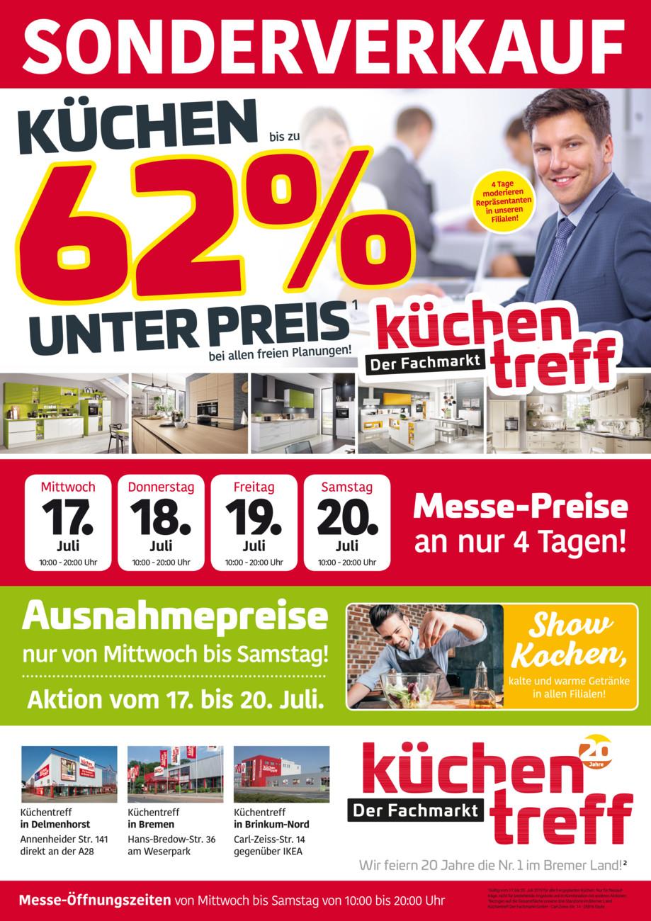 Küchentreff Sonderverkauf vom Mittwoch, 17.07.2019