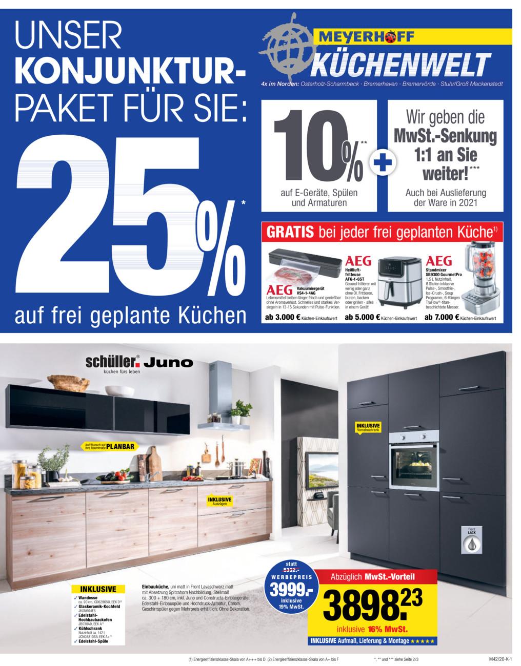 Meyerhoff Küchenwelt vom Dienstag, 03.09.2019