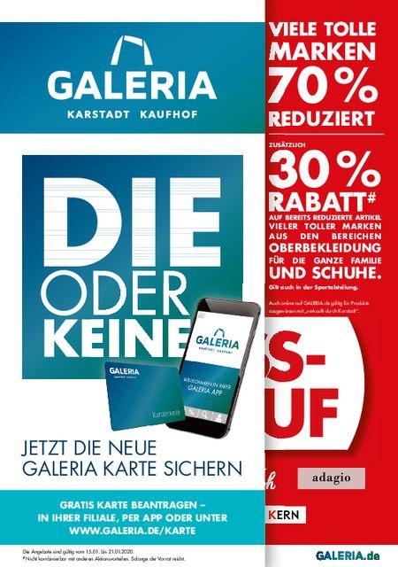 Galeria Karstadt Kaufhof vom 15.01.2020