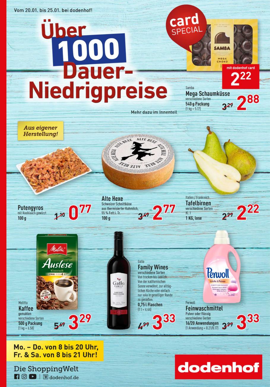 Dodenhof Genießermarkt vom Samstag, 18.01.2020