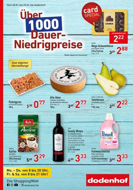 Dodenhof Genießermarkt vom 18.01.2020