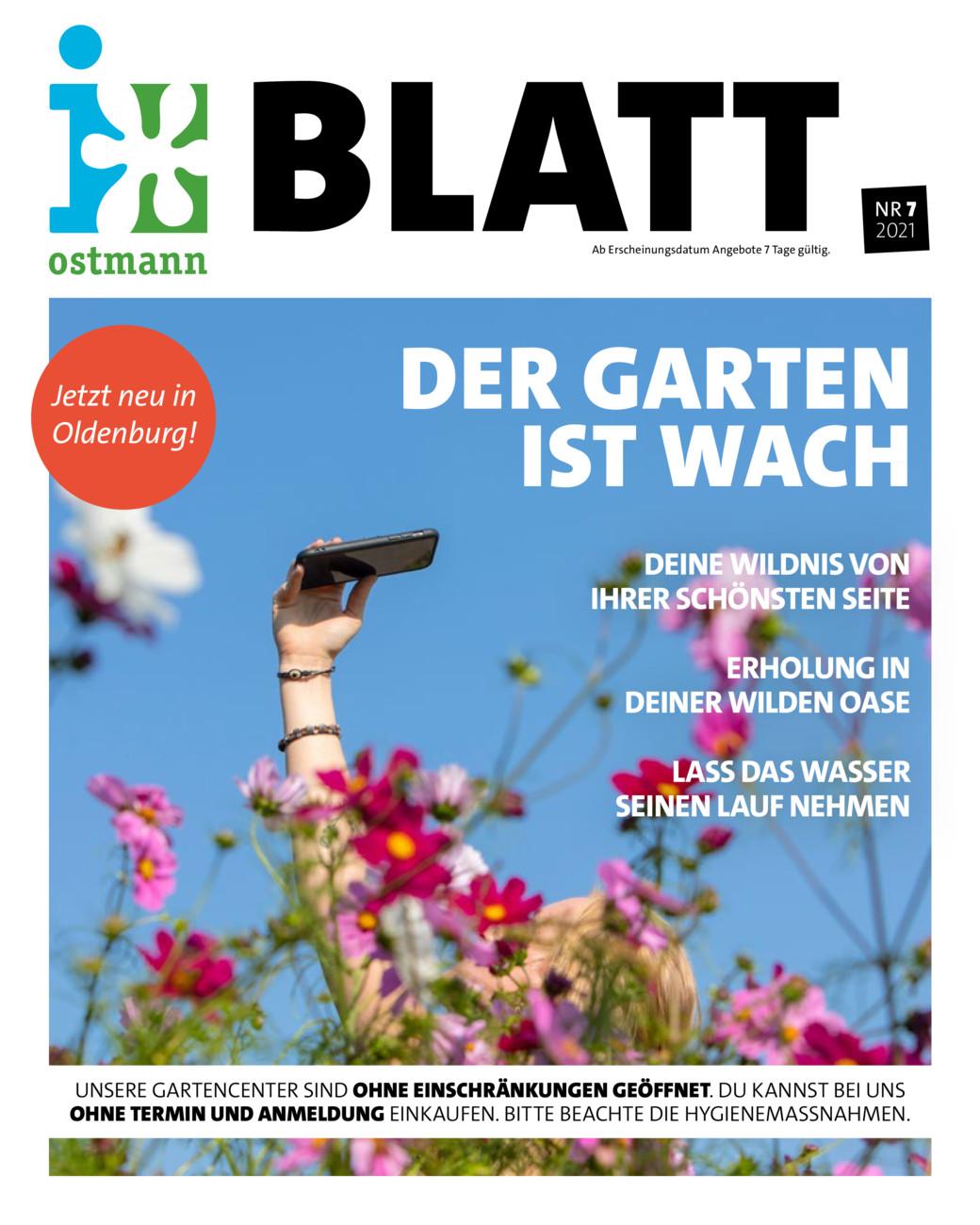 """Blumen Ostmann Blatt 7 """"der Garten ist wach"""" vom Samstag, 15.05.2021"""