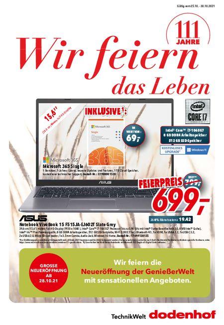 Dodenhof Technik vom 24.10.2021