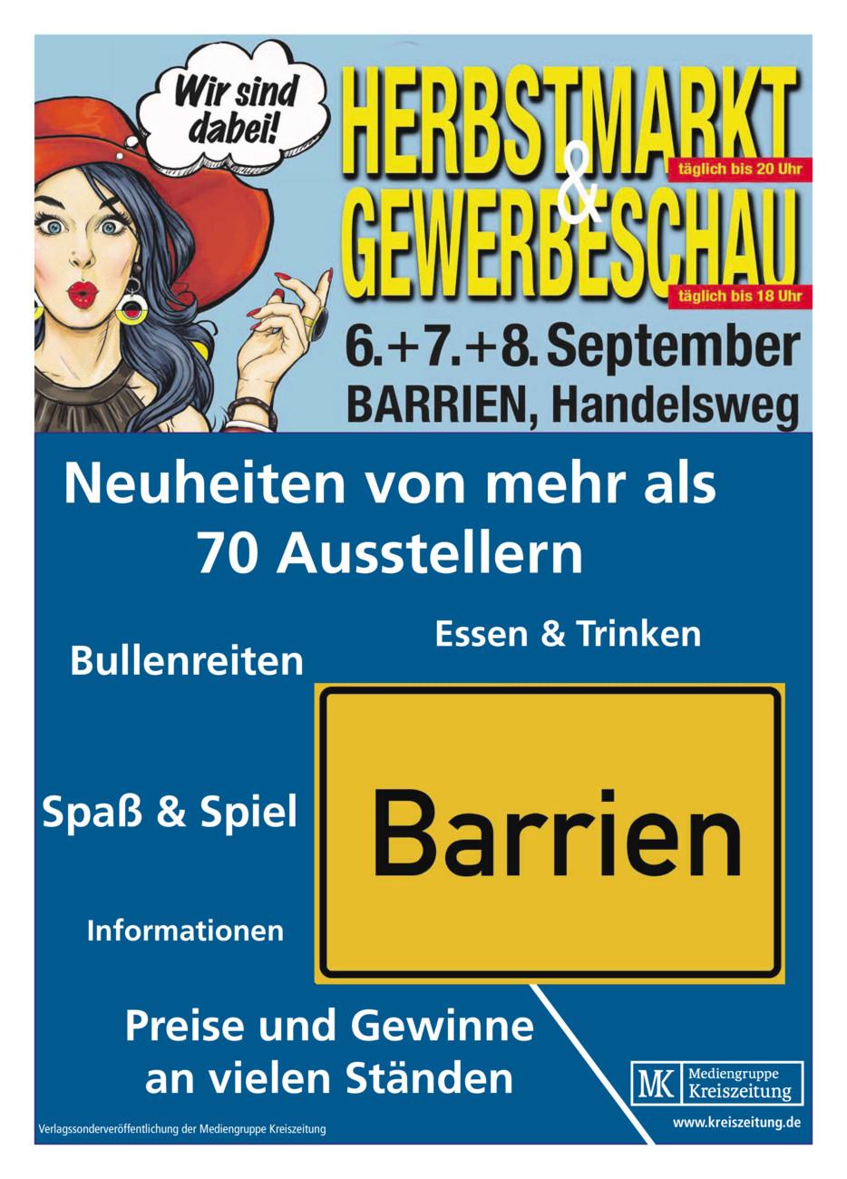 Herbstmarkt und Gewerbeschau Barrien vom Mittwoch, 04.09.2019