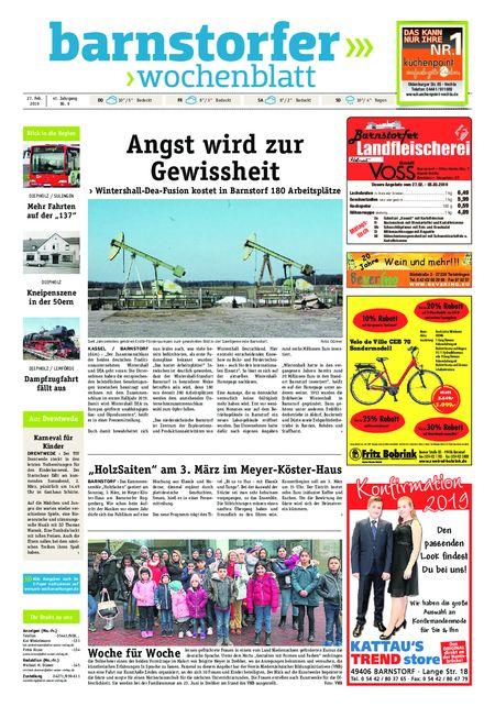 Barnstorfer Wochenblatt vom 27.02.2019