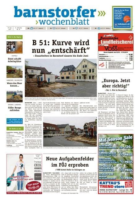 Barnstorfer Wochenblatt vom 30.04.2019