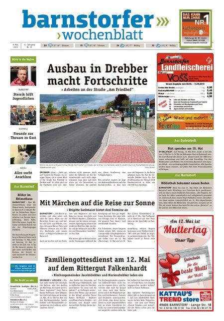 Barnstorfer Wochenblatt vom 08.05.2019