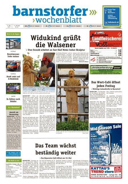 Barnstorfer Wochenblatt vom 15.05.2019
