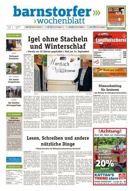 Barnstorfer Wochenblatt vom 22.05.2019