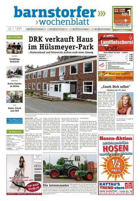 Barnstorfer Wochenblatt vom 05.06.2019