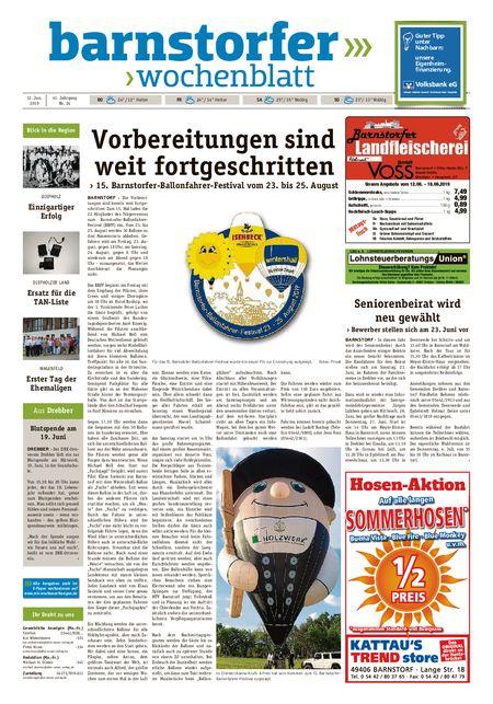 Barnstorfer Wochenblatt vom 12.06.2019