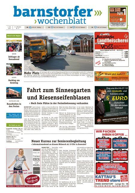 Barnstorfer Wochenblatt vom 03.07.2019