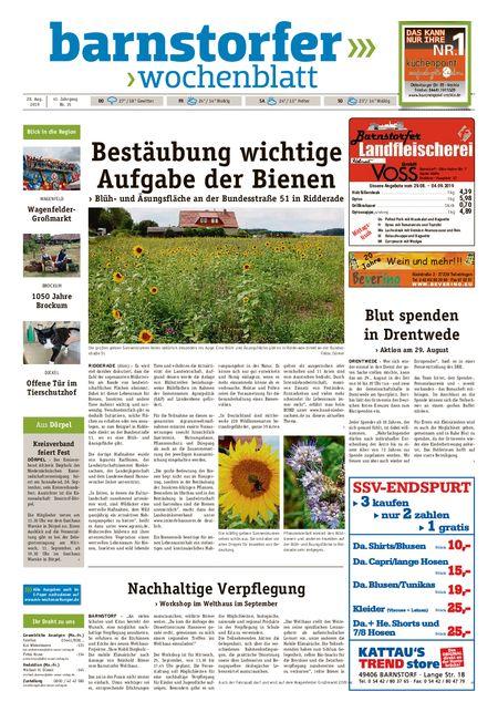 Barnstorfer Wochenblatt vom 28.08.2019