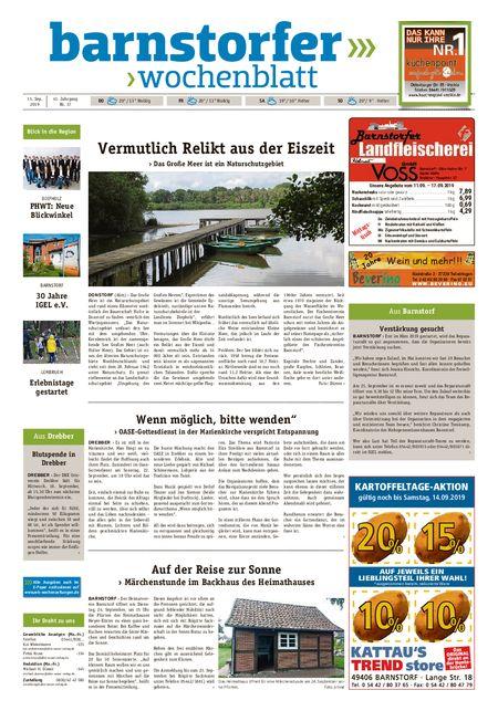 Barnstorfer Wochenblatt vom 11.09.2019