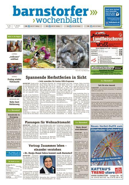 Barnstorfer Wochenblatt vom 18.09.2019