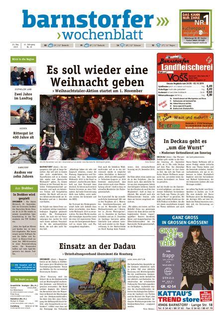 Barnstorfer Wochenblatt vom 25.09.2019
