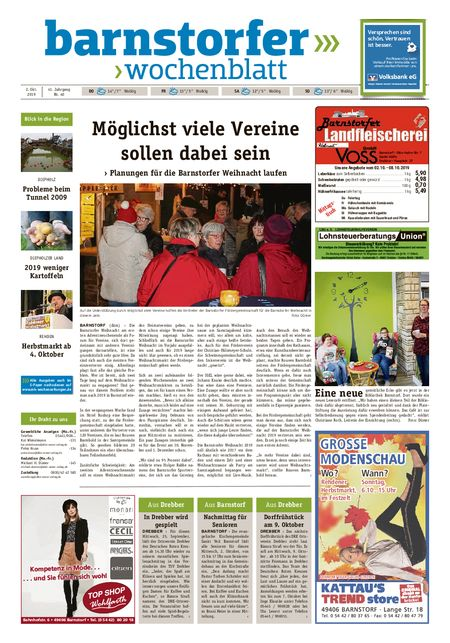 Barnstorfer Wochenblatt vom 02.10.2019