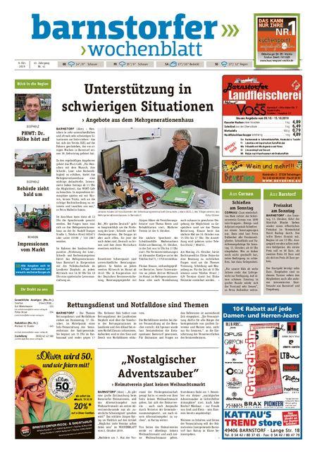 Barnstorfer Wochenblatt vom 09.10.2019