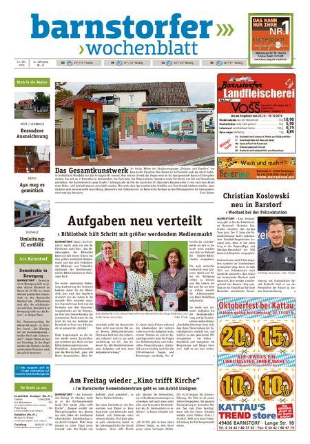 Barnstorfer Wochenblatt vom 23.10.2019