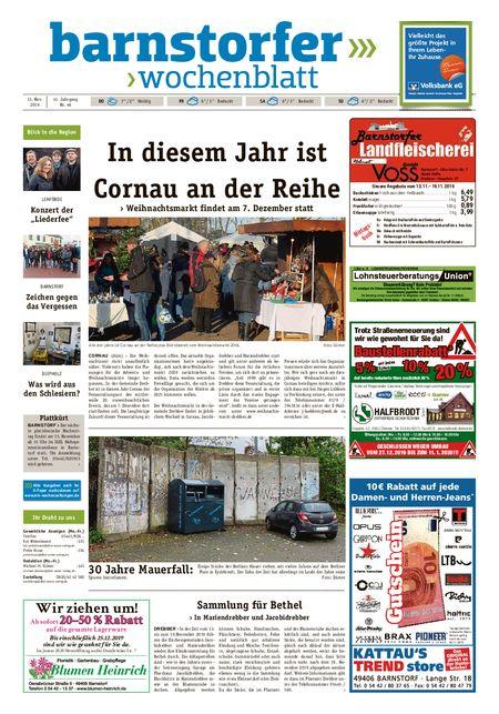 Barnstorfer Wochenblatt vom 13.11.2019