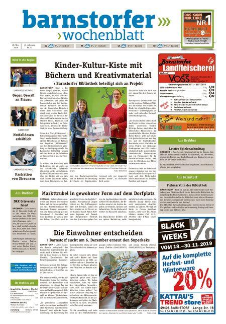 Barnstorfer Wochenblatt vom 20.11.2019