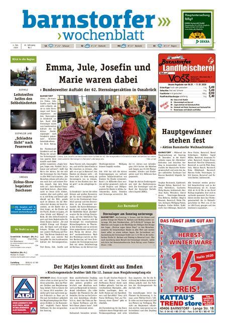 Barnstorfer Wochenblatt vom 04.01.2020