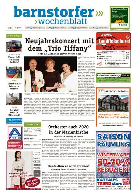 Barnstorfer Wochenblatt vom 11.01.2020