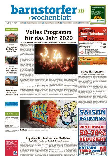 Barnstorfer Wochenblatt vom 18.01.2020