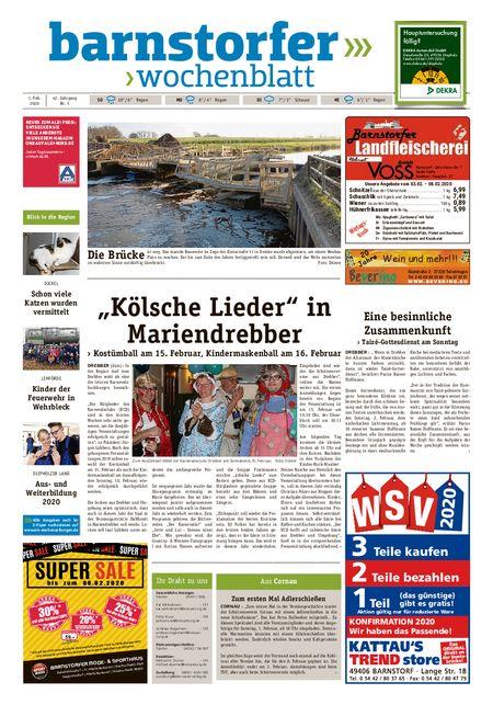 Barnstorfer Wochenblatt vom 01.02.2020