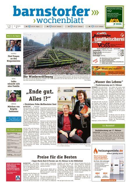 Barnstorfer Wochenblatt vom 15.02.2020