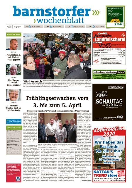 Barnstorfer Wochenblatt vom 22.02.2020