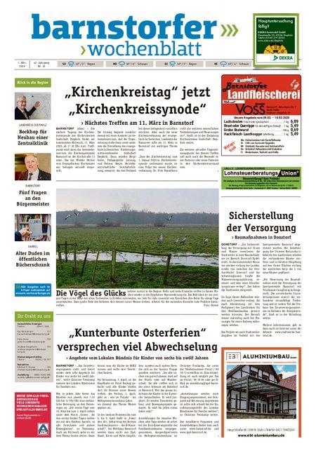 Barnstorfer Wochenblatt vom 07.03.2020