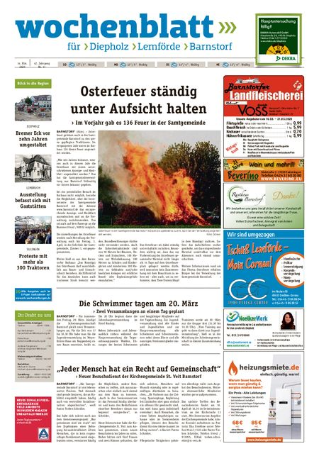 Barnstorfer Wochenblatt vom 14.03.2020