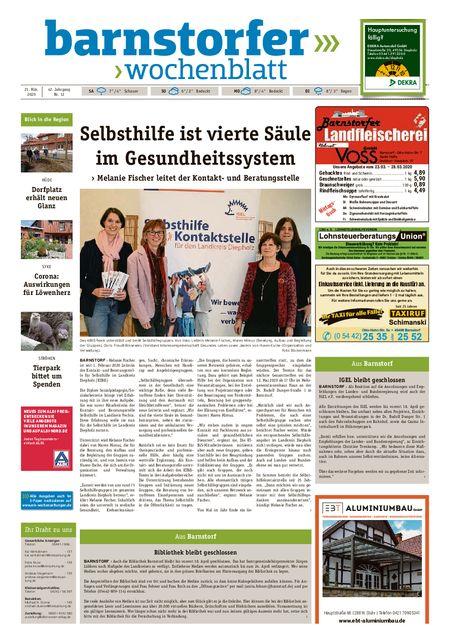 Barnstorfer Wochenblatt vom 21.03.2020