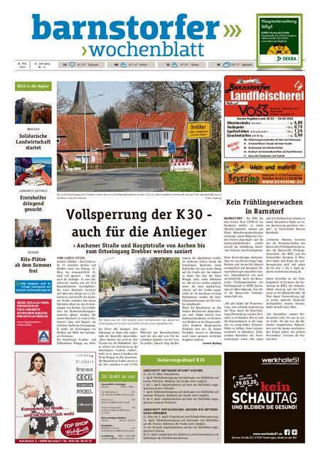 Barnstorfer Wochenblatt vom 28.03.2020