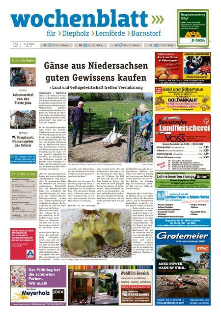 Barnstorfer Wochenblatt vom 02.05.2020