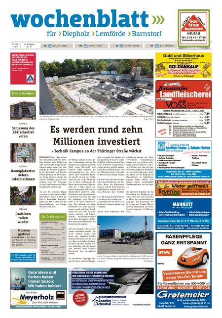 Barnstorfer Wochenblatt vom 23.05.2020