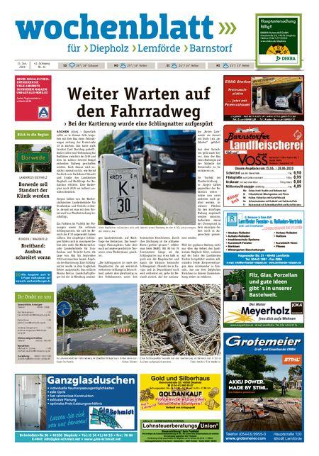 Barnstorfer Wochenblatt vom 13.06.2020