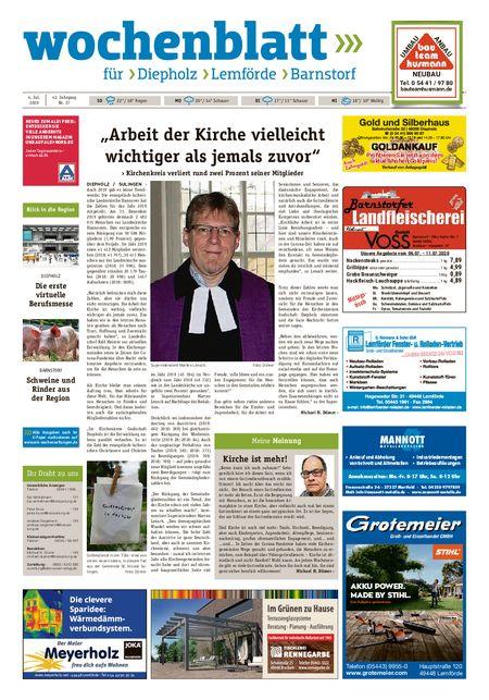 Barnstorfer Wochenblatt vom 04.07.2020