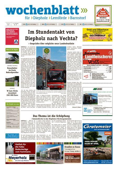 Barnstorfer Wochenblatt vom 18.07.2020