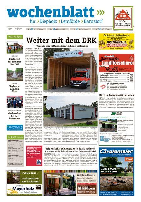 Barnstorfer Wochenblatt vom 01.08.2020