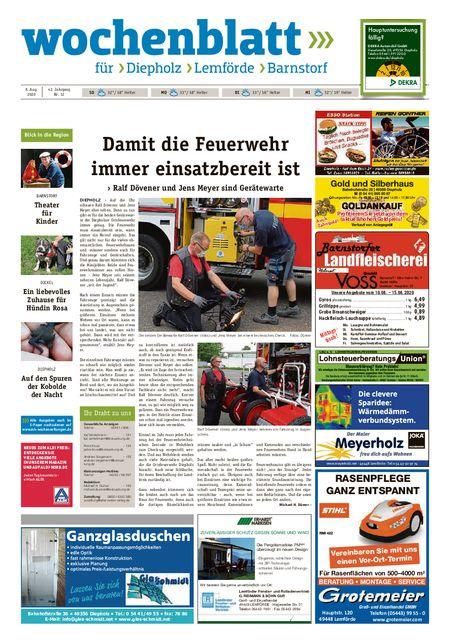 Barnstorfer Wochenblatt vom 08.08.2020